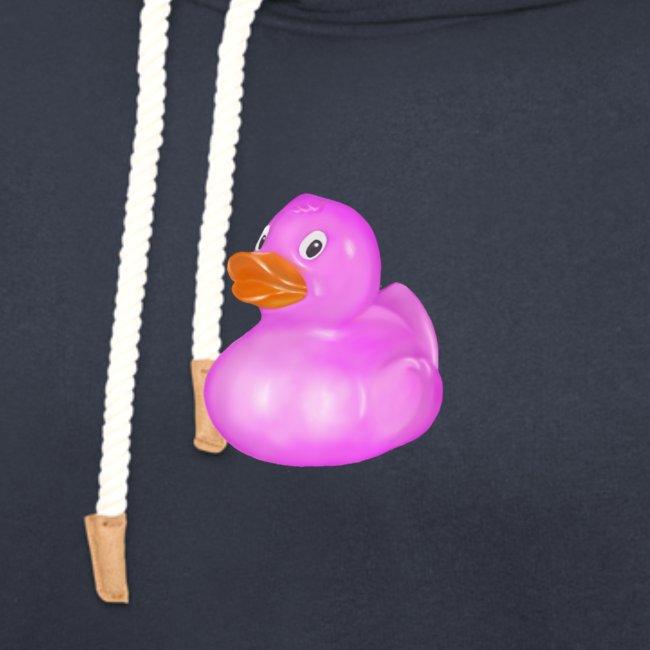 Rose bathing duck