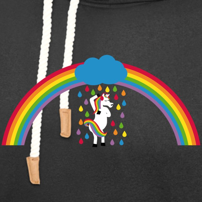 Regenbogen Einhorn duscht