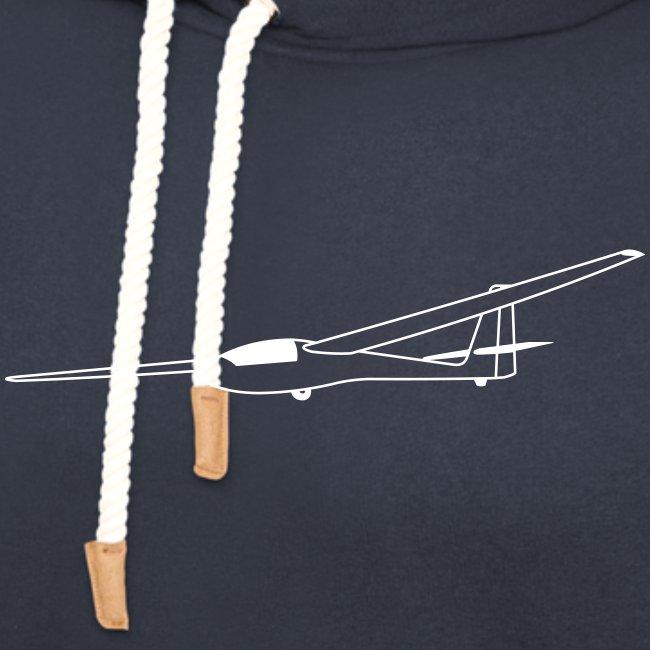 ASW15 Segelflugzeug weiss Tshirt Segelflieger