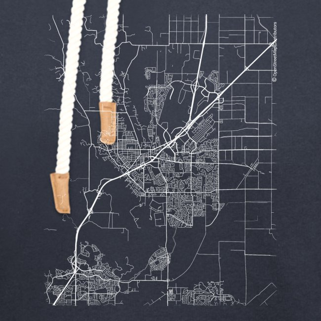 Minimal Vacaville city map and streets