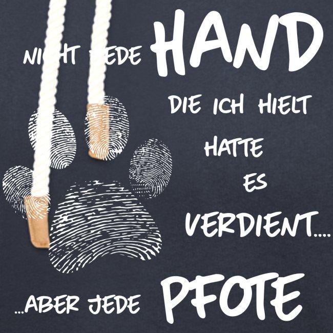 Vorschau: Hand Pfote Hund - Unisex Schalkragen Hoodie