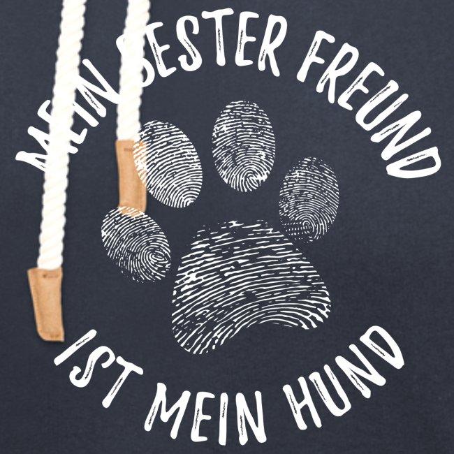 Vorschau: Mein Hund Bester Feund - Unisex Schalkragen Hoodie