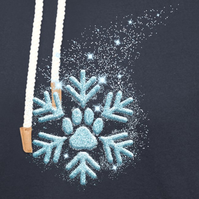 Vorschau: dog paw snowflake - Unisex Schalkragen Hoodie