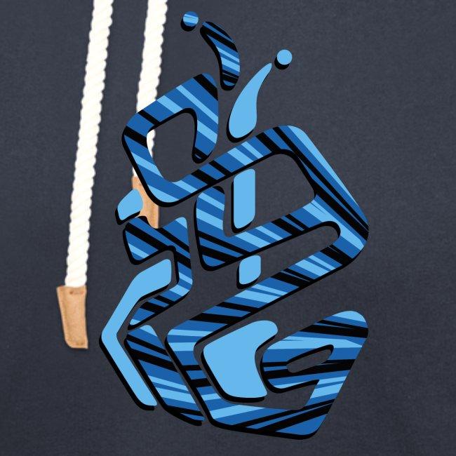 disegno geometrico blu ragazzo