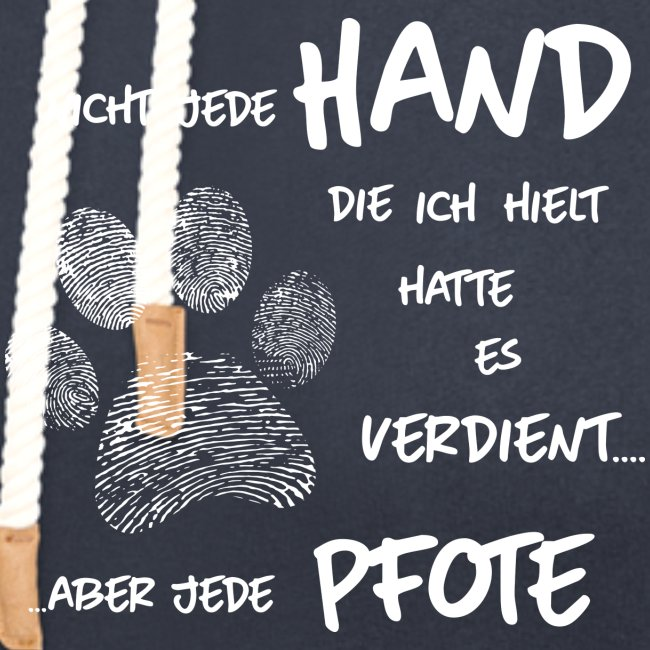 Vorschau: Hand Pfote Hund - Schalkragen Hoodie