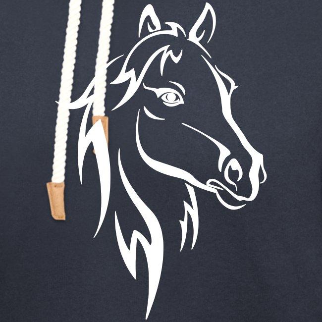 Vorschau: Horse - Unisex Schalkragen Hoodie