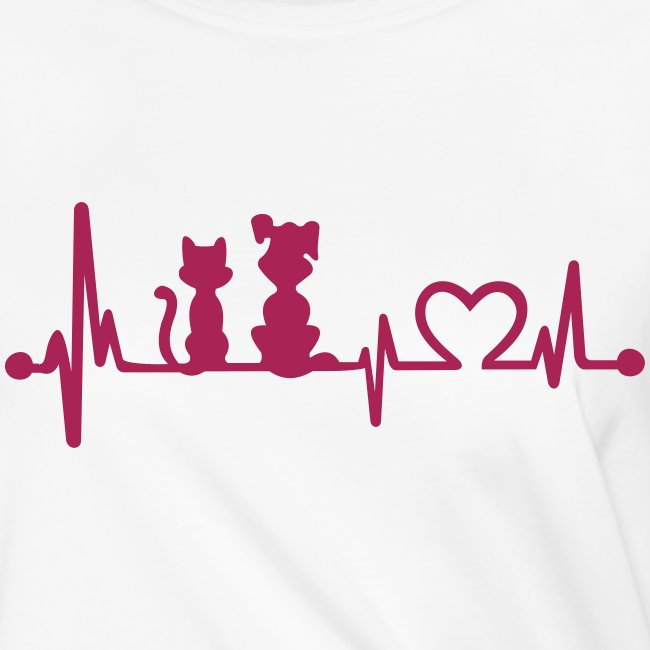 dog cat heartbeat - Frauen Knotenshirt