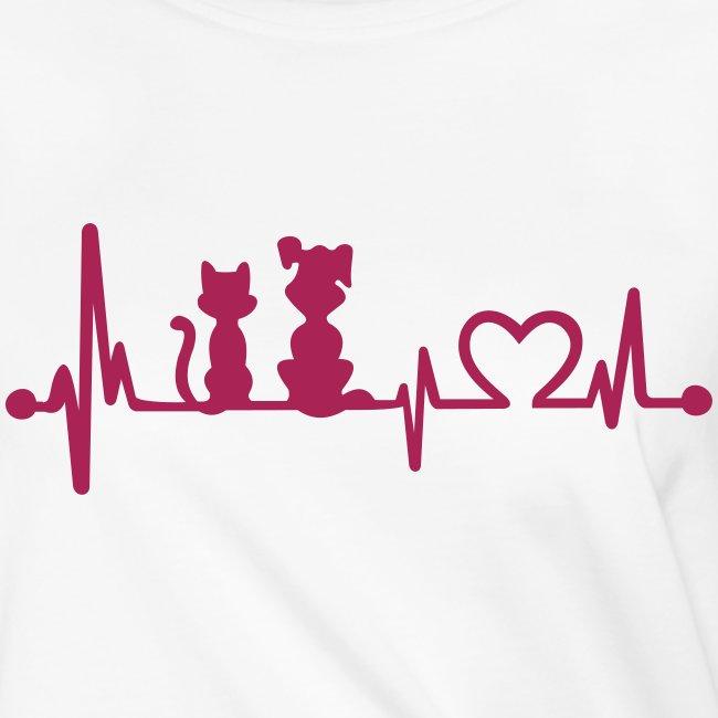 Vorschau: dog cat heartbeat - Frauen Knotenshirt
