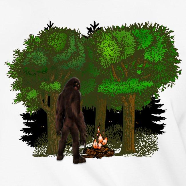 Bigfoot Campfire Forest