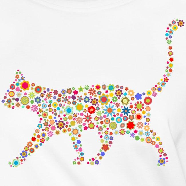 Vorschau: flower cat - Frauen Knotenshirt