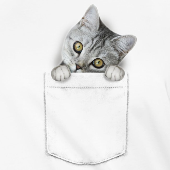 cat pocket - Frauen Knotenshirt