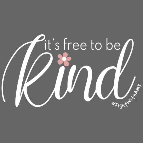 Amy's 'Free to be Kind' design (white txt) - Women's Knotted T-Shirt