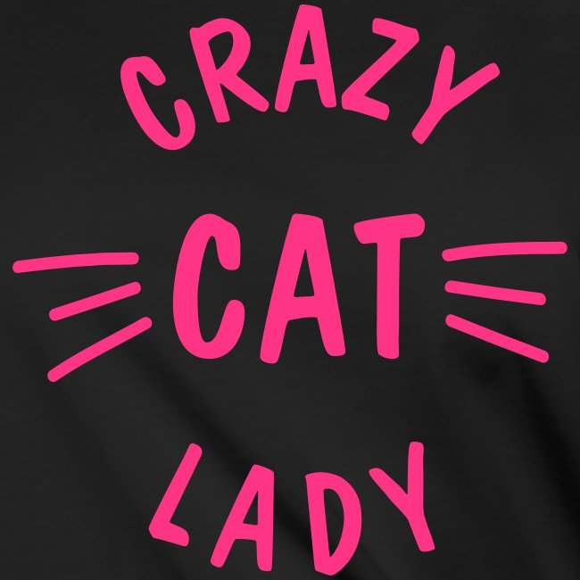 Crazy Cat Lady meow - Frauen Knotenshirt