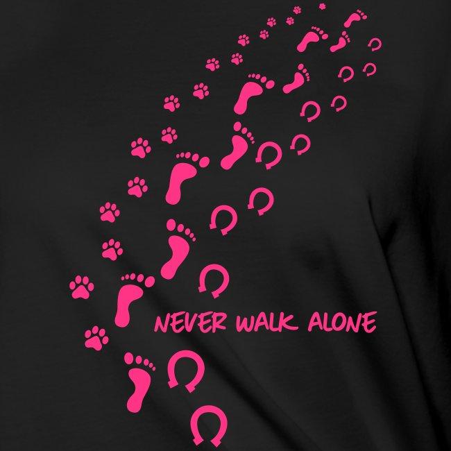 Vorschau: never walk alone hund pferd - Frauen Knotenshirt