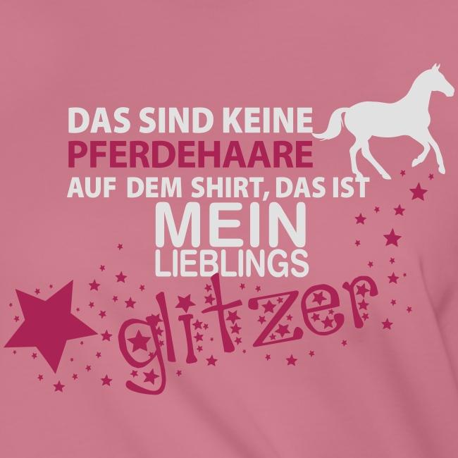 Vorschau: Glitzer Pferd - Frauen Knotenshirt