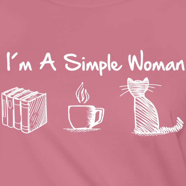 Vorschau: simple woman cat books - Frauen Knotenshirt