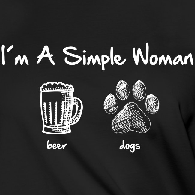 Vorschau: simple woman beer white - Frauen Knotenshirt