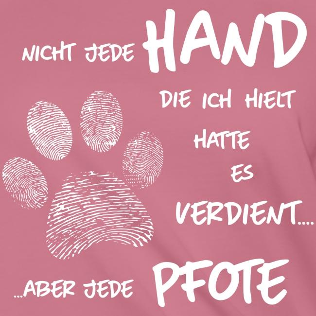 Vorschau: Hand Pfote Hund - Knotenshirt