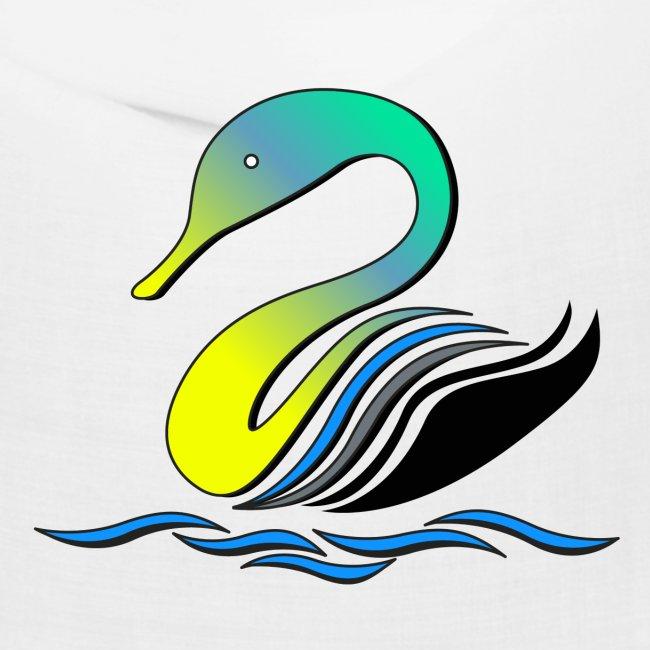 cigno multicolore stilizzato