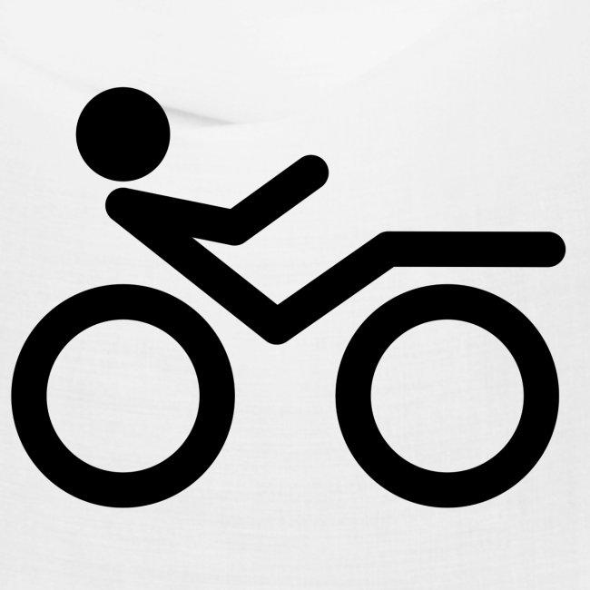 Recumbent bike black 2