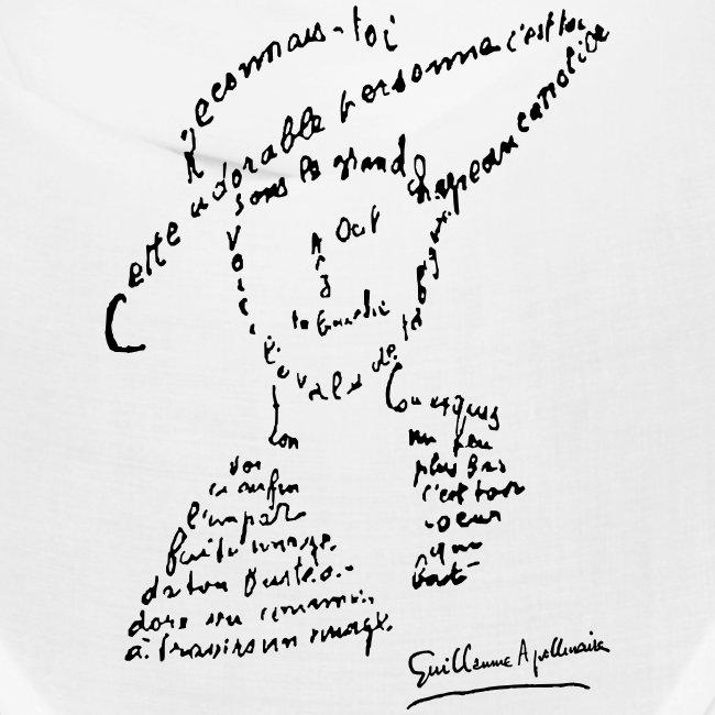 calligramme - Lou au chapeau
