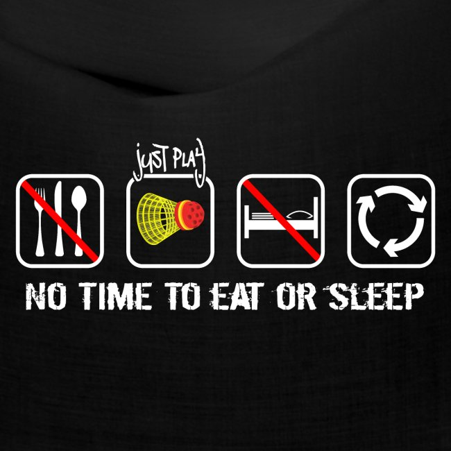 No time to eat or sleep. Just Crossminton