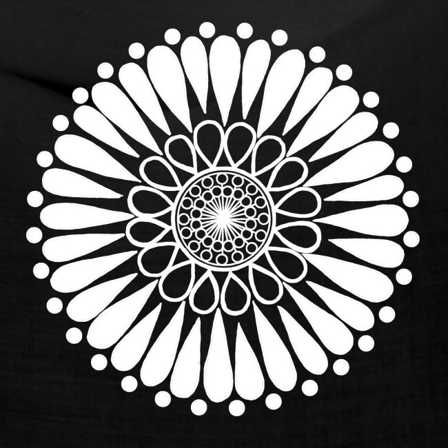 White Sunflower Mandala