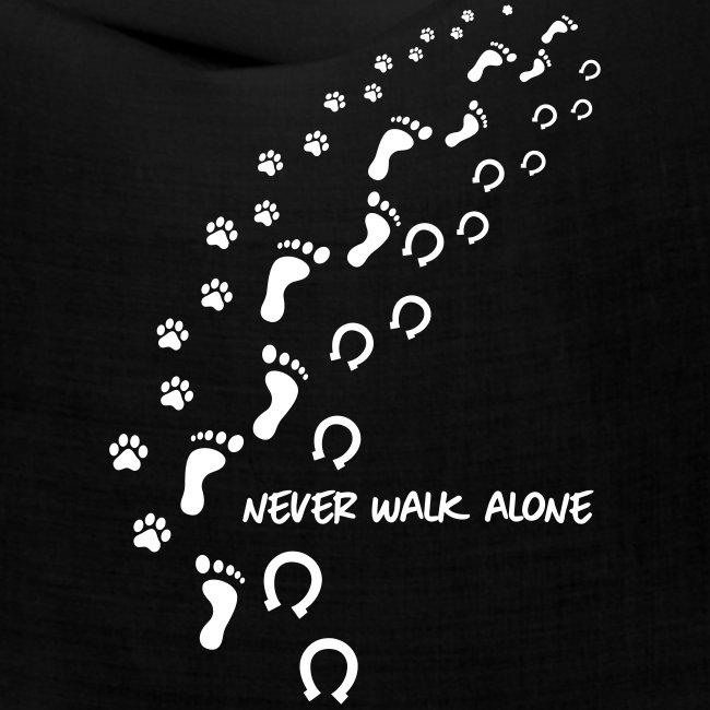 Vorschau: never walk alone hund pferd - Bandana