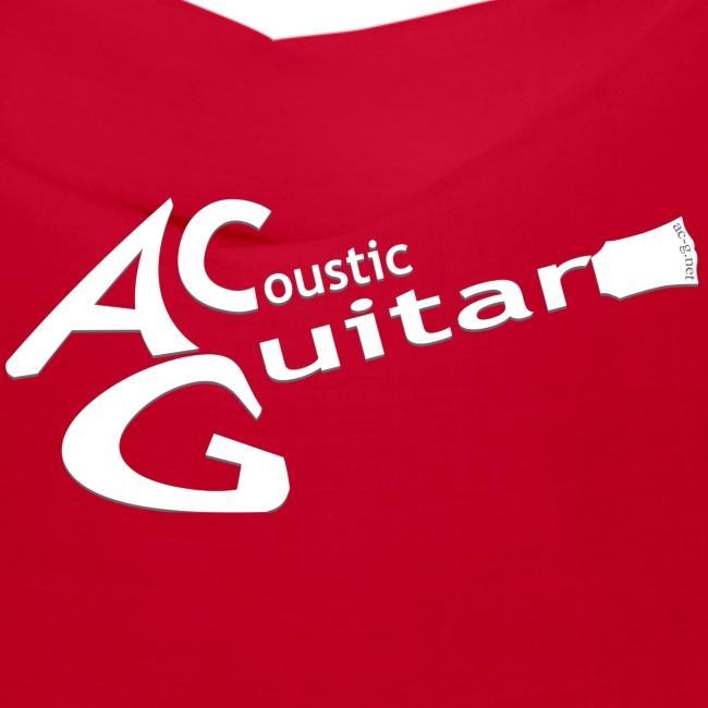 Acoustic Guitar Logo - White