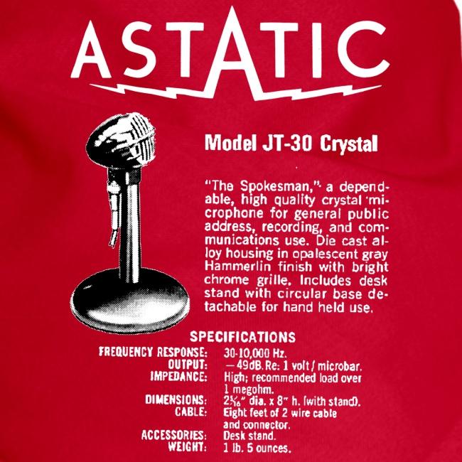 Astatic JT-30 Specs