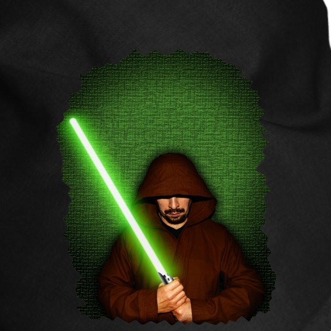 Jedi warrior with green lightsaber