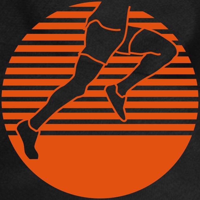 Läufer seitlich einfärbig runner running