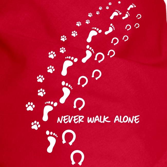 Vorschau: never walk alone hund pferd - Hunde-Bandana