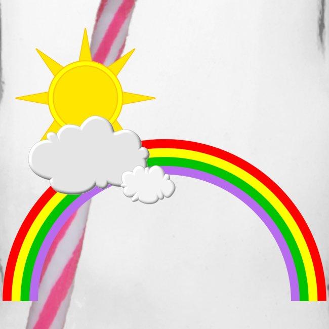 Regenbogen, Sonne, Wolken