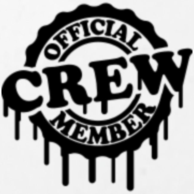 cool official crew member stamp design