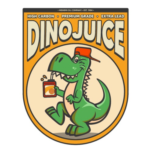 Dinojuice Sticker design - Lasimuki kierrekannella