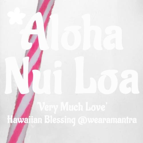 Aloha Nui Loa 2 white - Boccale con coperchio avvitabile