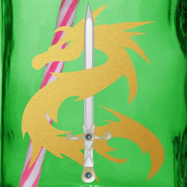 Draak met zwaard