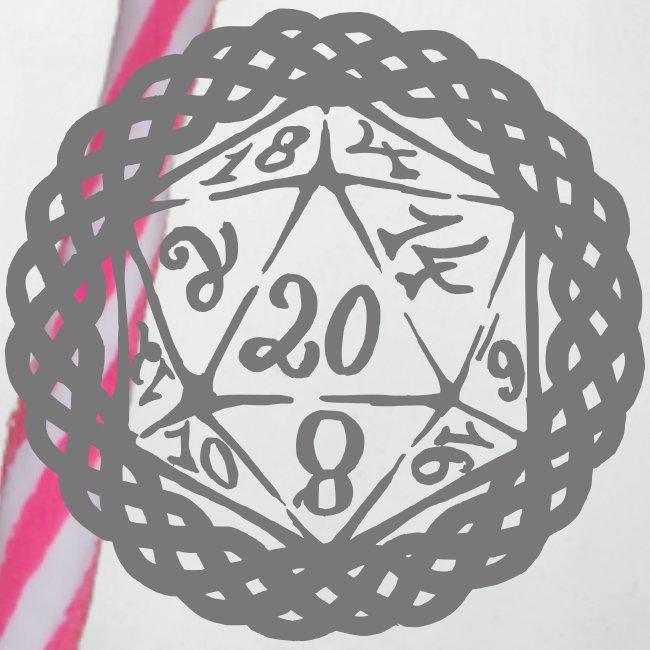 D20 Geschenk Glücksbringer Rollenspiel Würfel