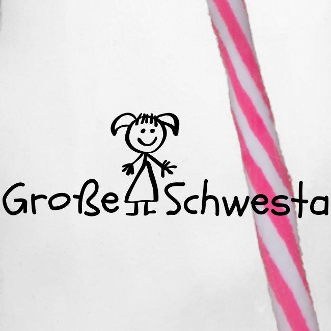 Vorschau: Grosse Schwesta - Henkelglas mit Schraubdeckel