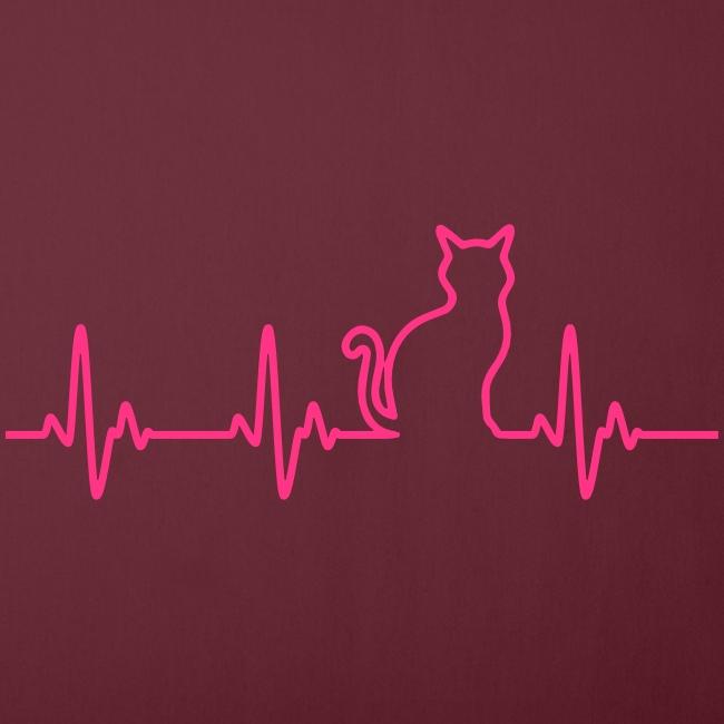 Vorschau: Ein Herz für Katzen - Sofakissen mit Füllung 44 x 44 cm