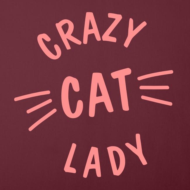 Vorschau: Crazy Cat Lady meow - Sofakissen mit Füllung 44 x 44 cm