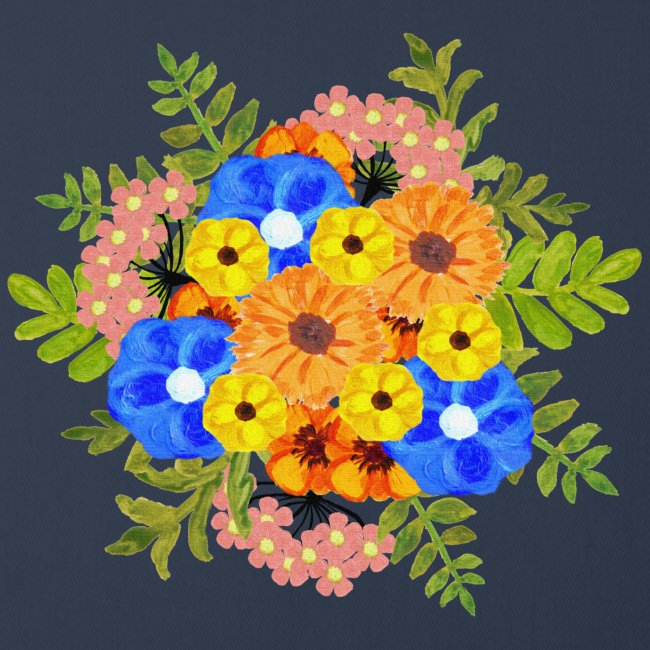 Blue Flower Arragement
