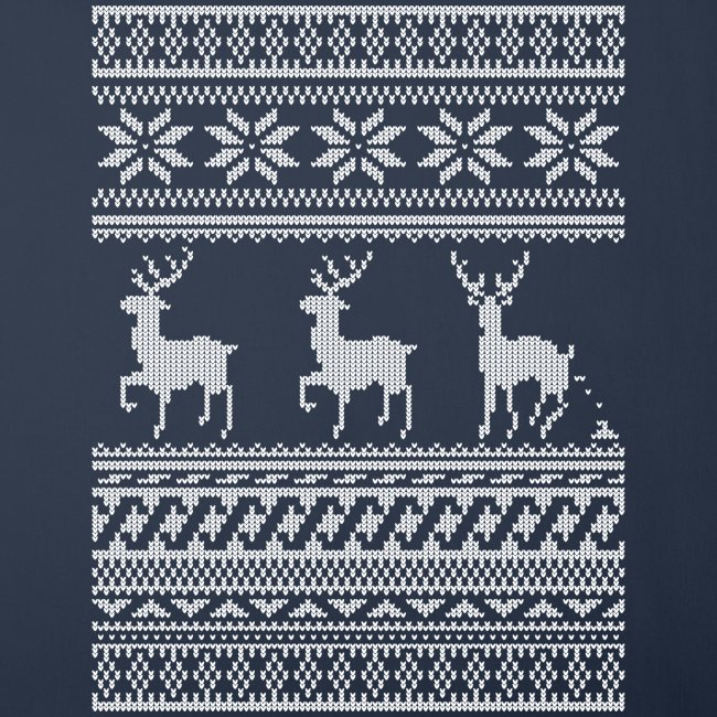 Ugly Christmas Sweater Rentier Muster (lustig)