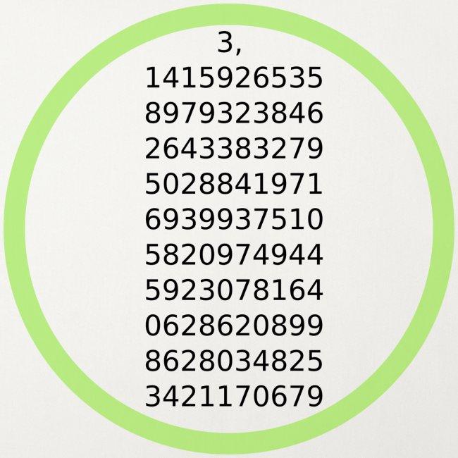 Number Pi Green Circle