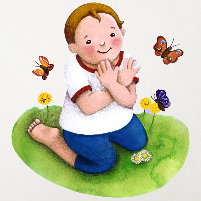 Gebärde Schmetterling