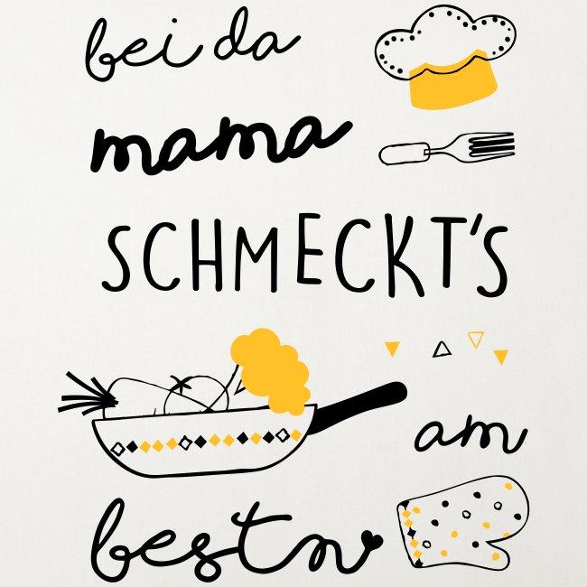 Vorschau: Bei da Mama schmeckts am bestn - Sofakissen mit Füllung 44 x 44 cm