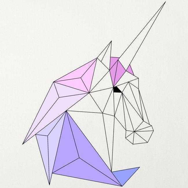 Einhorn geometrie unicorn
