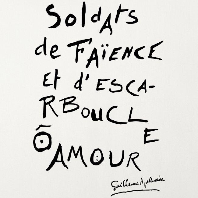 Calligramme - Soldat de faillance