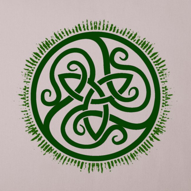 Green Celtic Triknot